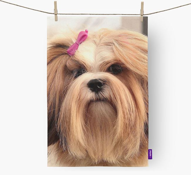 Dish Towel with photo of your Lhasa Apso