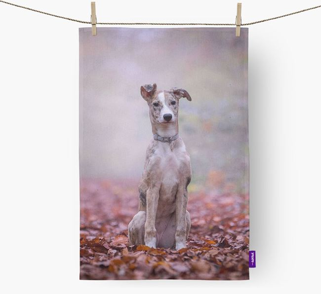 Dish Towel with photo of your Lurcher