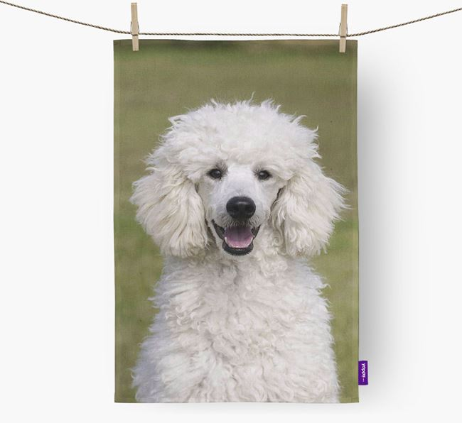Tea Towel with photo of your Poodle