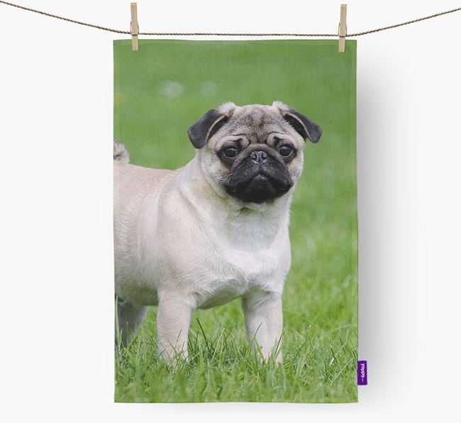 Dish Towel with photo of your Pug