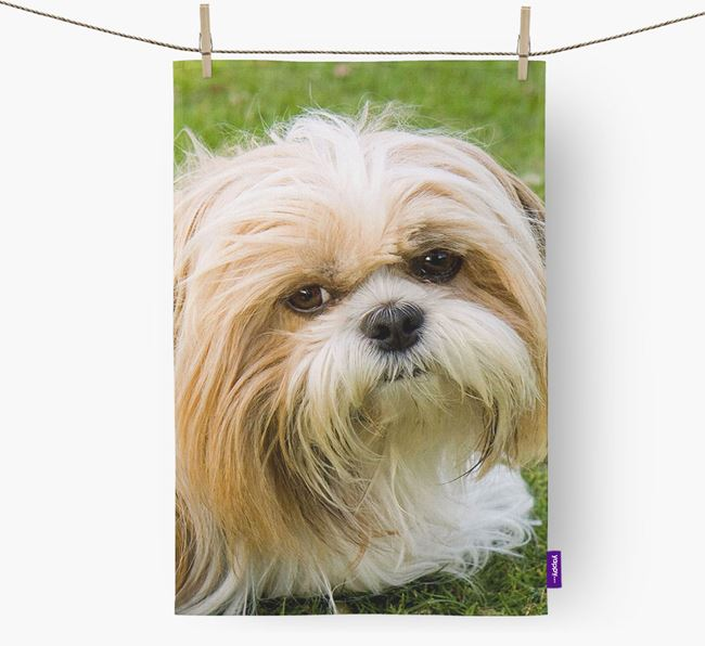 Dish Towel with photo of your Shih Tzu