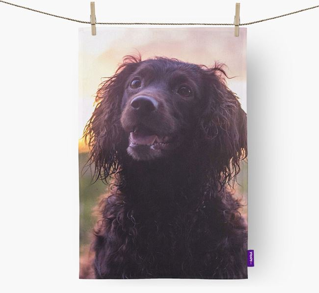 Dish Towel with photo of your Sprocker