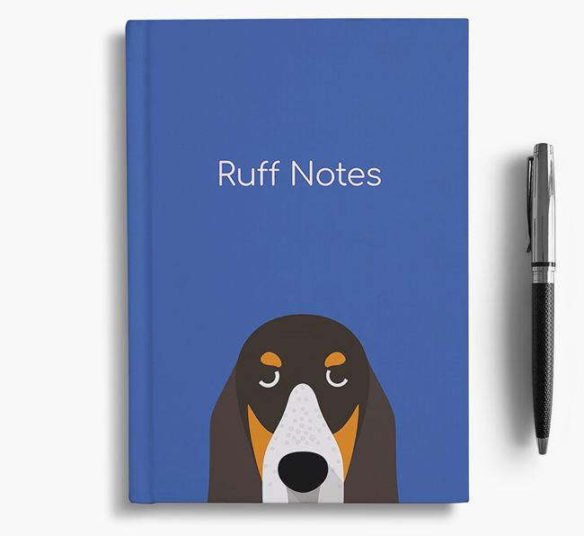 'Ruff Notes' Basset Bleu Notebook