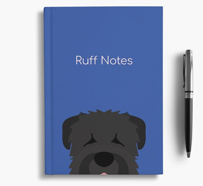 'Ruff Notes' Black Russian Notebook