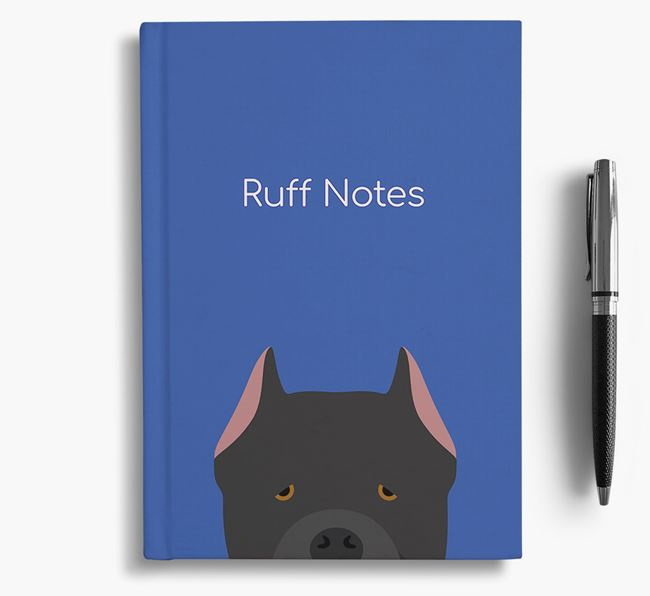 'Ruff Notes' Cane Corso Notebook