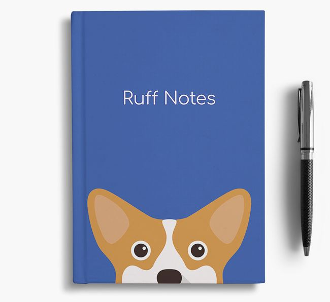 'Ruff Notes' Corgi Notebook