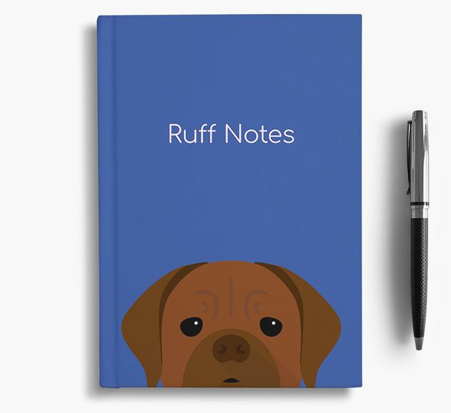 'Ruff Notes' Bordeaux Notebook