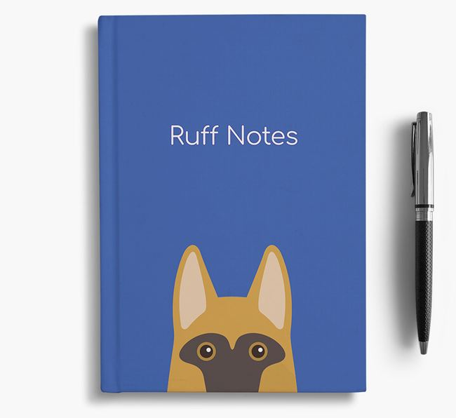 'Ruff Notes' German Shepherd Notebook