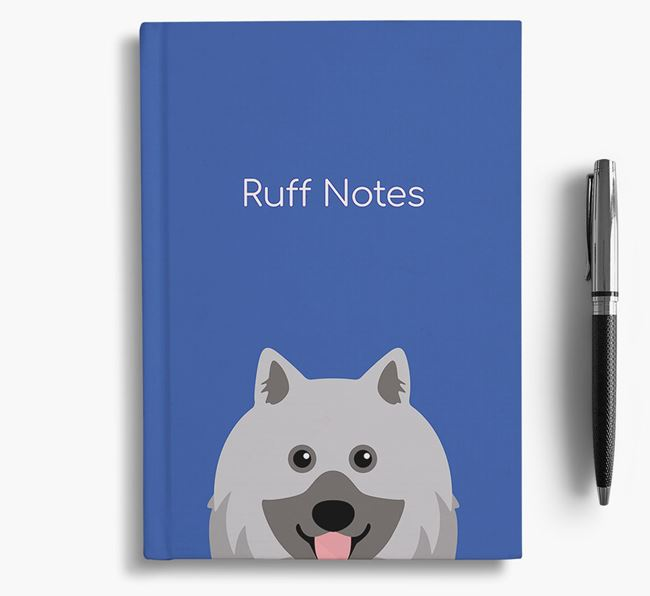'Ruff Notes' Keeshond Notebook