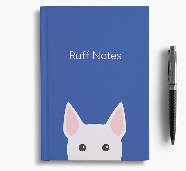 'Ruff Notes' Bull Terrier Notebook