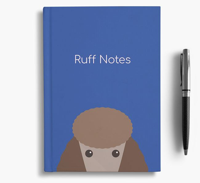 'Ruff Notes' Poodle Notebook