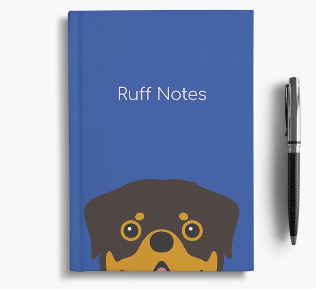 'Ruff Notes' Rottweiler Notebook