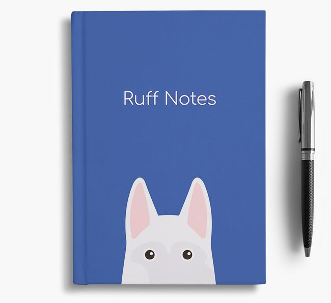 'Ruff Notes' White Swiss Notebook