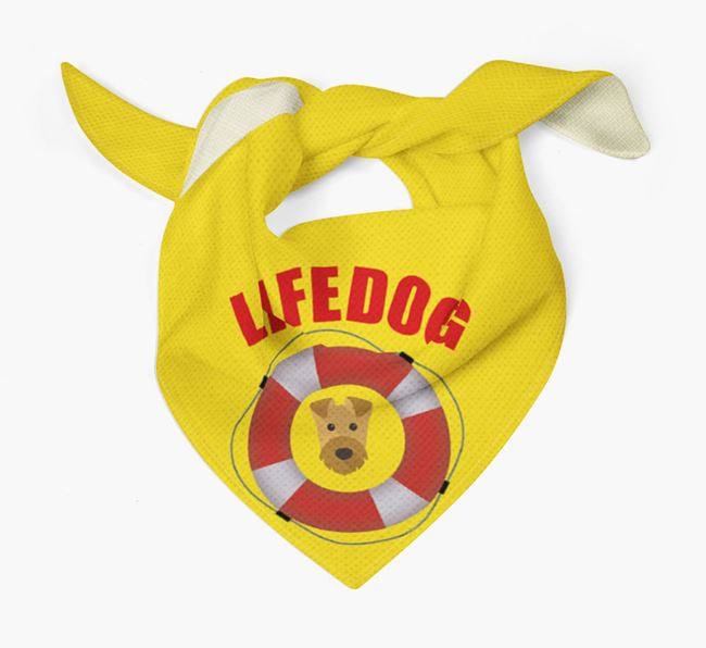 'Life Dog' Bandana with Airedale Terrier Icon