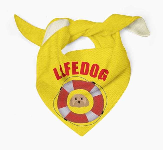 'Life Dog' Bandana with Dog Icon