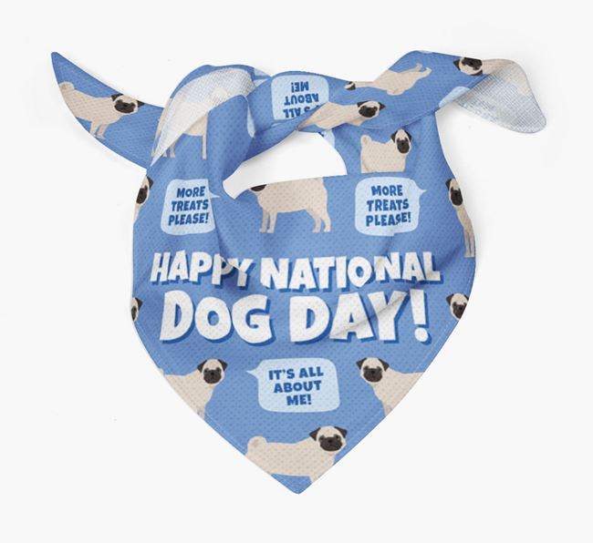 'Happy National Dog Day' Bandana with Dog Icon