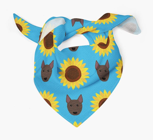 Sunflower Bandana with Bull Terrier Icons