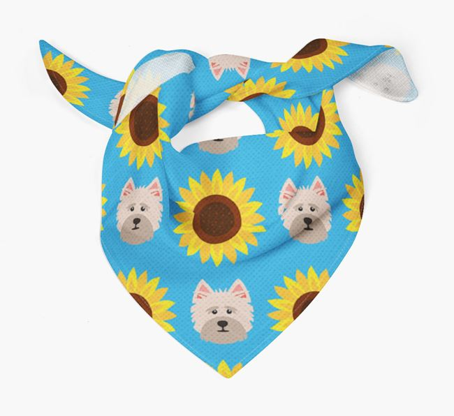 Sunflower Bandana with Cairn Terrier Icons