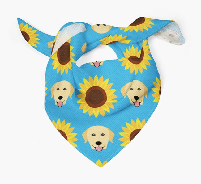 Sunflower Bandana with Dog Icons
