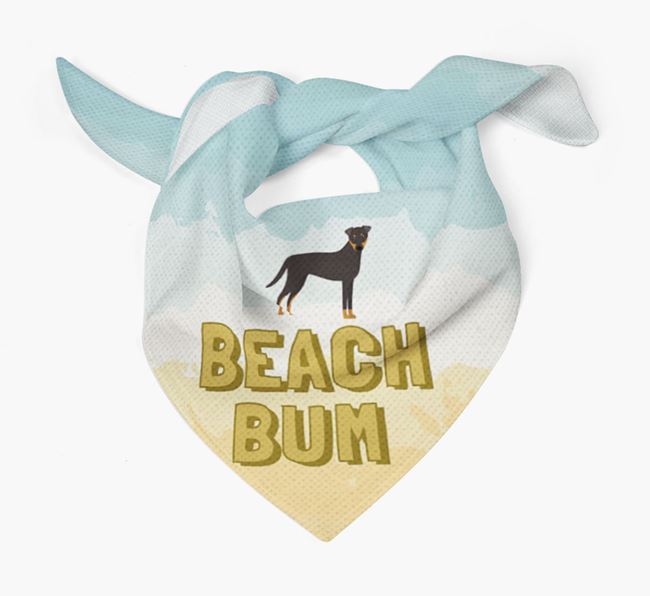 'Beach Bum' Bandana with Dog Icon