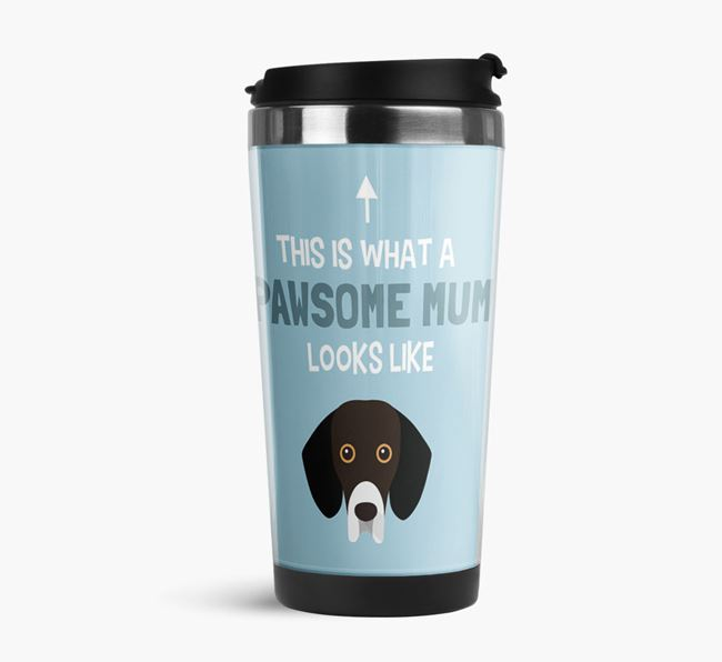 'This Is What a Pawsome Mum Looks Like' - Reusable Mug with Bassador Icon