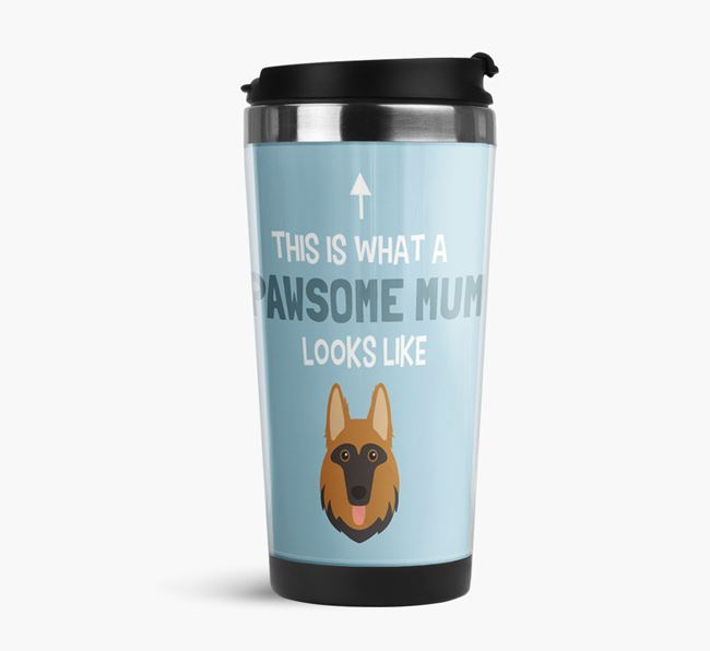 'This Is What a Pawsome Mum Looks Like' - Reusable Mug with German Shepherd Icon