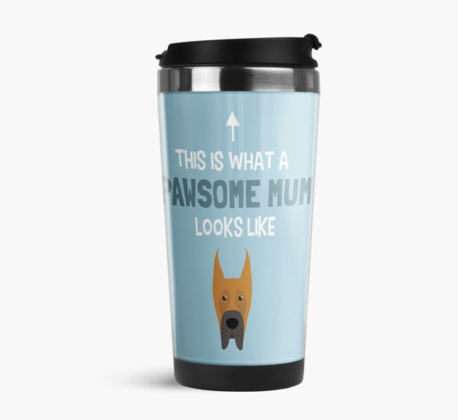 'This Is What a Pawsome Mum Looks Like' - Reusable Mug with Great Dane Icon