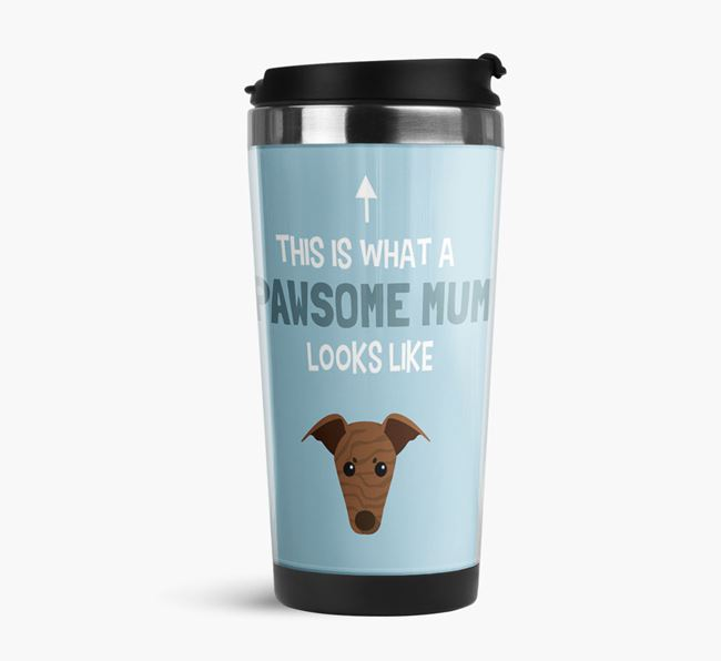 'This Is What a Pawsome Mum Looks Like' - Reusable Mug with Greyhound Icon