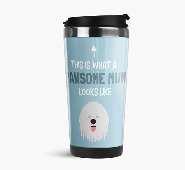 'This Is What a Pawsome Mum Looks Like' - Reusable Mug with Komondor Icon