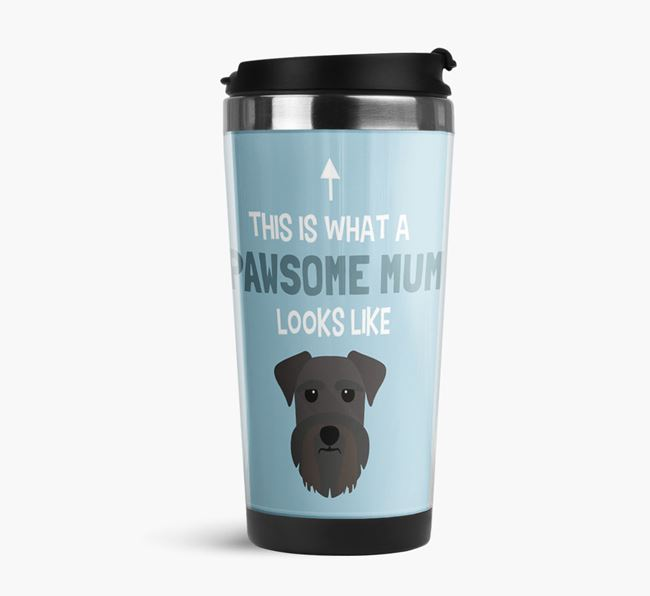 'This Is What a Pawsome Mum Looks Like' - Reusable Mug with Schnauzer Icon