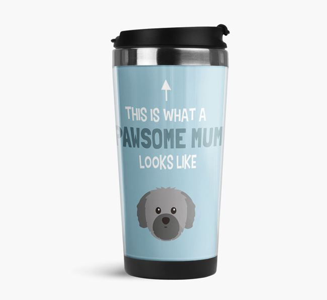 'This Is What a Pawsome Mum Looks Like' - Reusable Mug with Shih Tzu Icon