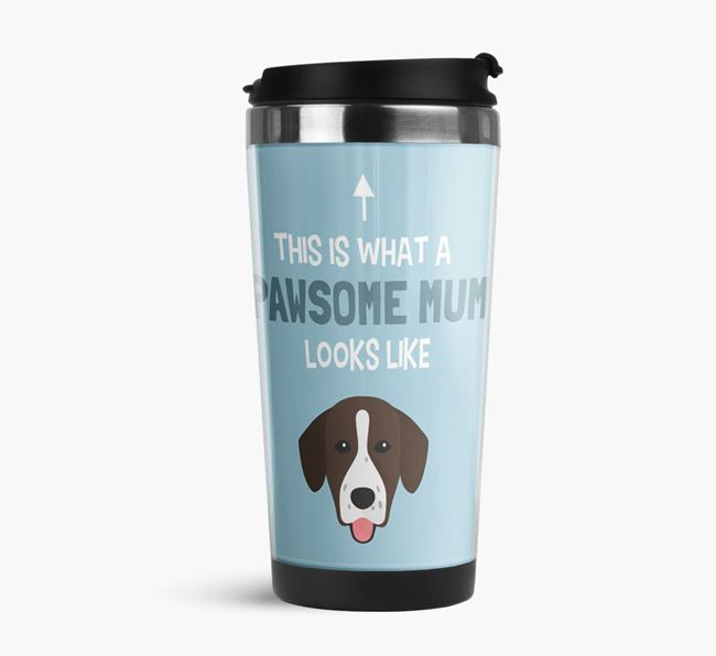 'This Is What a Pawsome Mum Looks Like' - Reusable Mug with Springador Icon