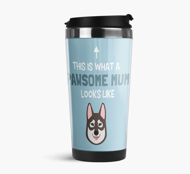 'This Is What a Pawsome Mum Looks Like' - Reusable Mug with Tamaskan Icon