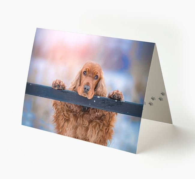 Photo Upload Landscape Card - Personalized for your Cocker Spaniel
