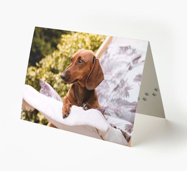 Photo Upload Landscape Card - Personalized for your Dachshund
