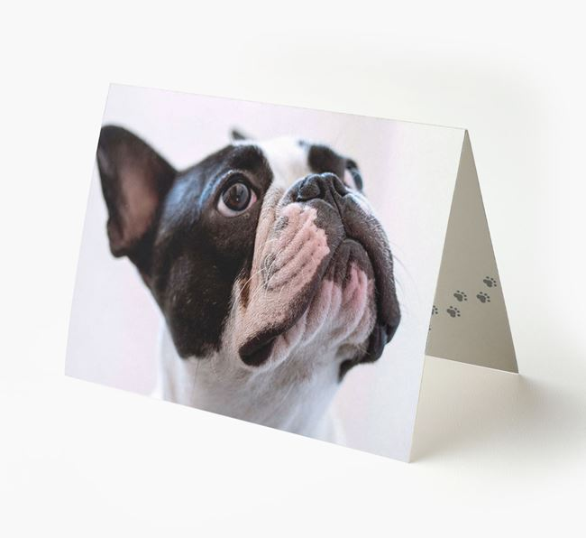 Photo Upload Landscape Card - Personalized for your French Bulldog