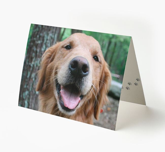Photo Upload Landscape Card - Personalized for your Golden Retriever