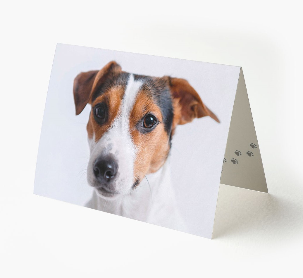 Landscape Greeting Card with photo of your Dog