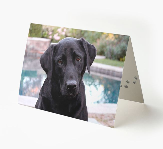 Photo Upload Landscape Card - Personalized for your Labrador Retriever