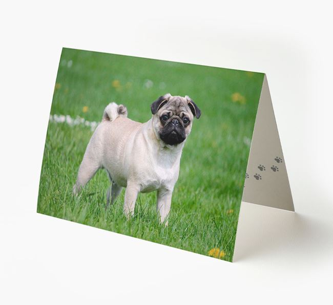 Photo Upload Landscape Card - Personalized for your Pug