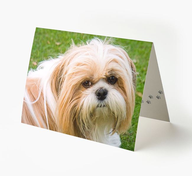 Photo Upload Landscape Card - Personalized for your Shih Tzu