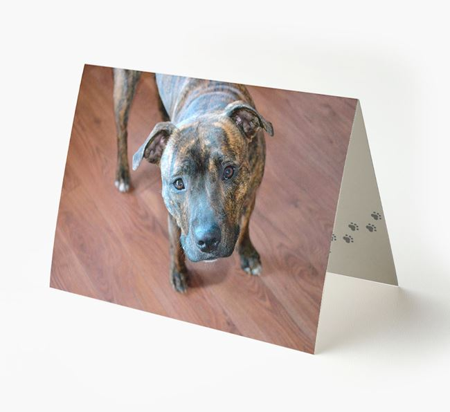 Photo Upload Landscape Card - Personalized for your Staffordshire Bull Terrier