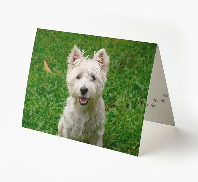 Photo Upload Landscape Card - Personalized for your West Highland White Terrier