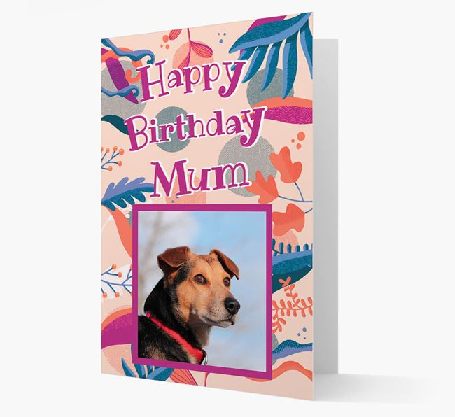 Photo Upload 'Happy Birthday, Mum' Card with you Bedlington Terrier
