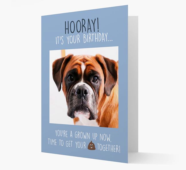 Photo Upload 'Hooray, it's your Happy Birthday' Card with you Dog Picture