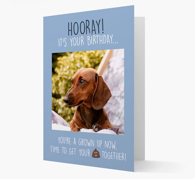 Photo Upload 'Hooray, it's your Happy Birthday' Card with you Dachshund Picture