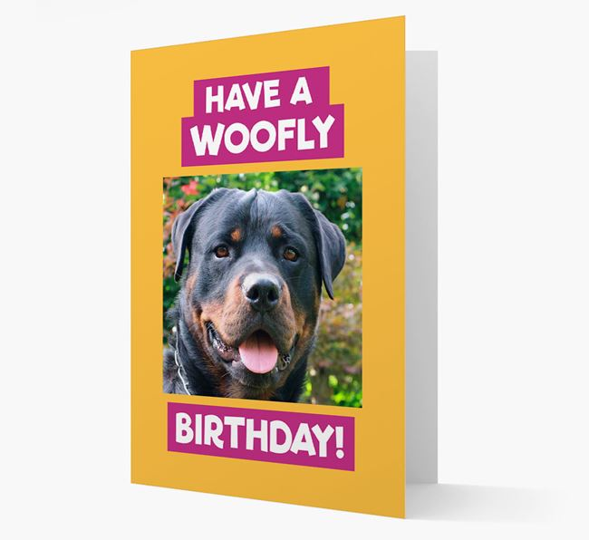 Photo Upload 'Have a Woofly Birthday' Card with your Dog Picture