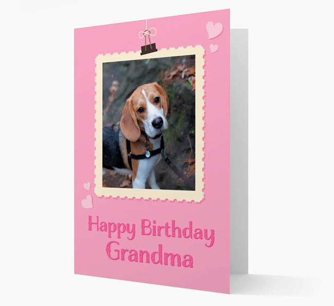 Photo Upload 'Happy Birthday, Grandma' Card with your Beagle Picture