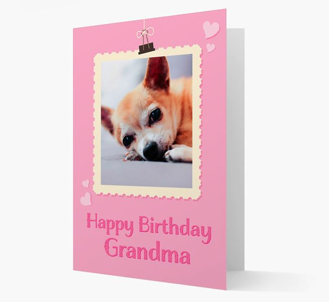 Photo Upload 'Happy Birthday, Grandma' Card with your Chihuahua Picture
