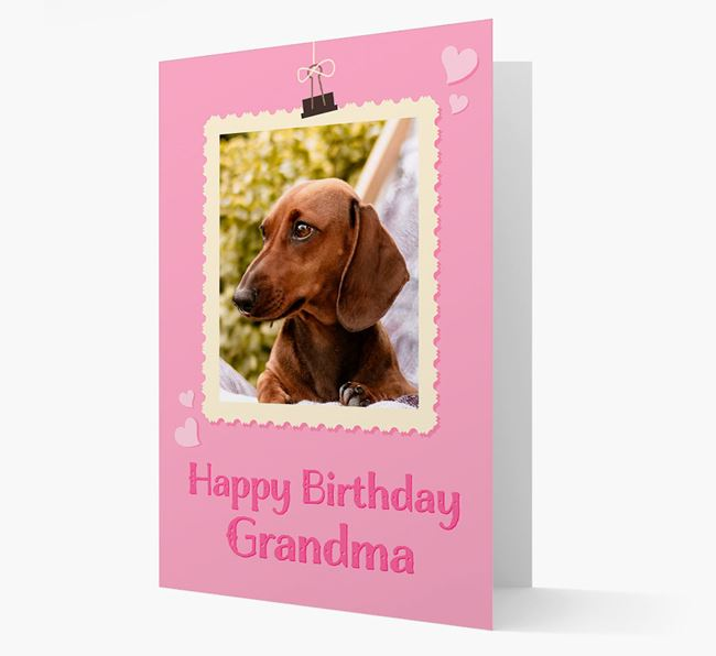 Photo Upload 'Happy Birthday, Grandma' Card with your Dachshund Picture